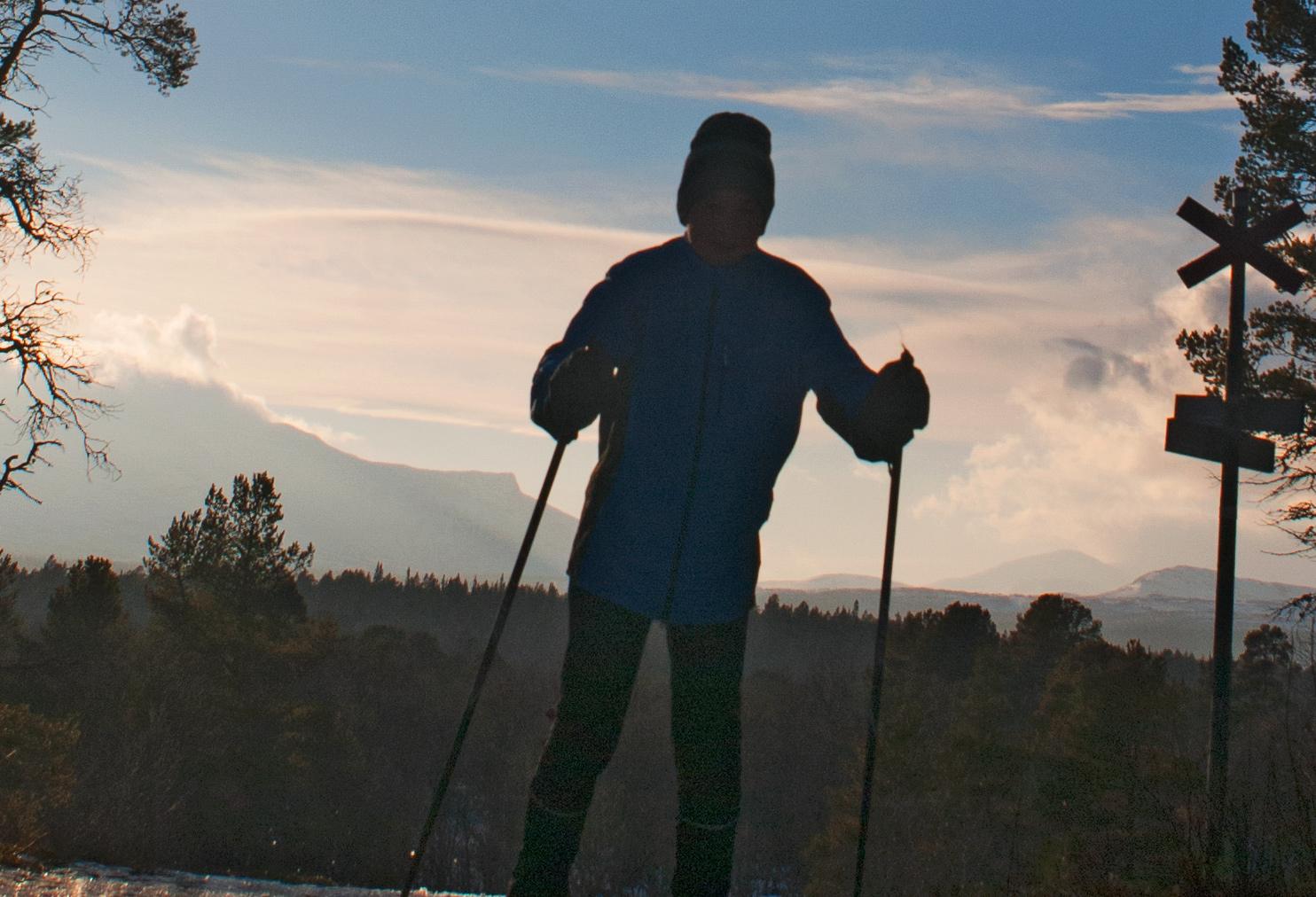 Nulltjärnsrundan I Vålådalen, Skidåkning I Skogsterräng Med Vackra Vyer. En Fjällupplevelse I Världsklass I Södra Årefjällen.
