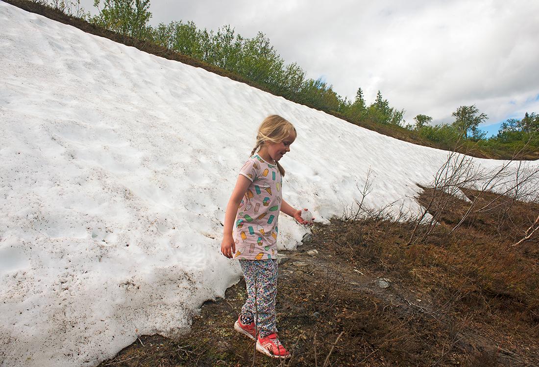 I Språngsdalen, I Ottsjö, Kan Man Ofta Kasta Snöboll I Slutet Av Juli. Fjällupplevelser I Världsklass I Södra Årefjällen.